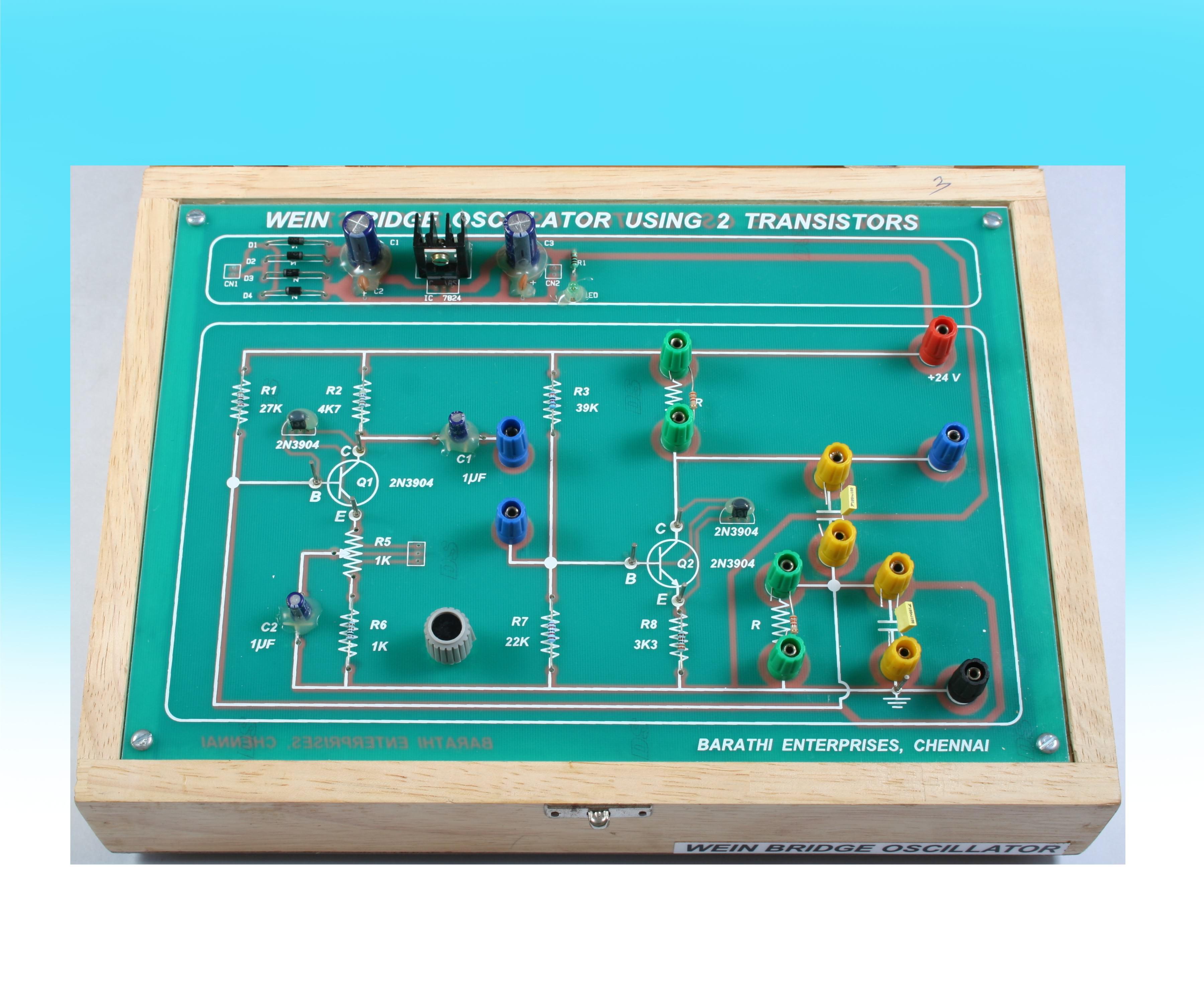 Barathi Enterprises Phase Shift Oscillator Circuit Using Transistor Image Objective