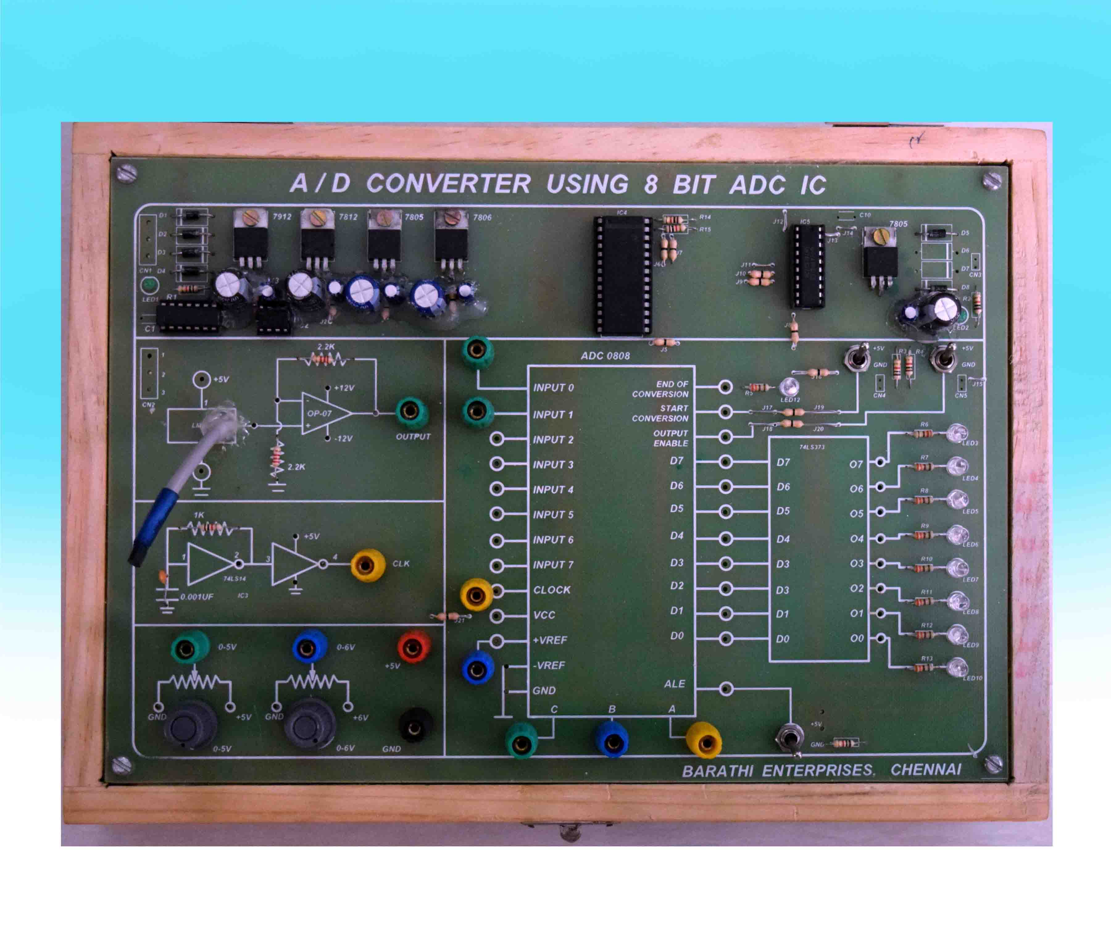 Barathi Enterprises Bcd To Binary Converter Electronics Telecommunication Circuit Objective
