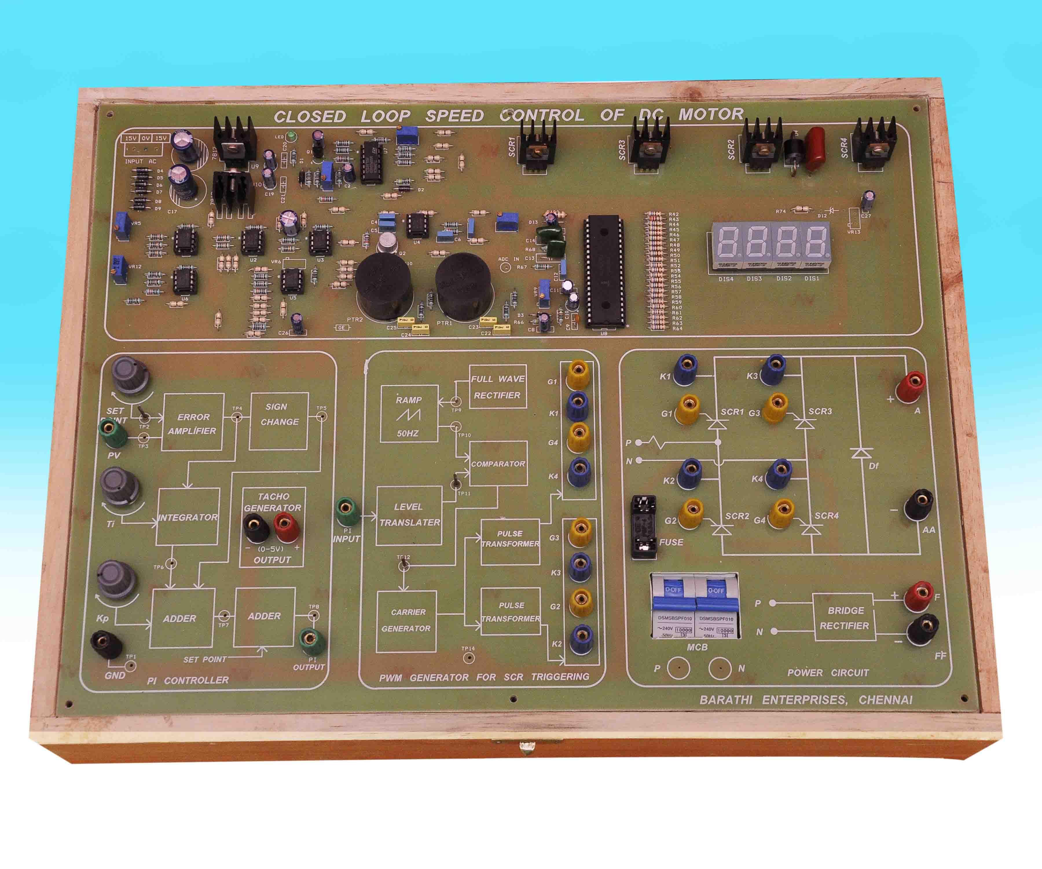 Barathi Enterprises Universal Motor Speed Control Circuit Objective
