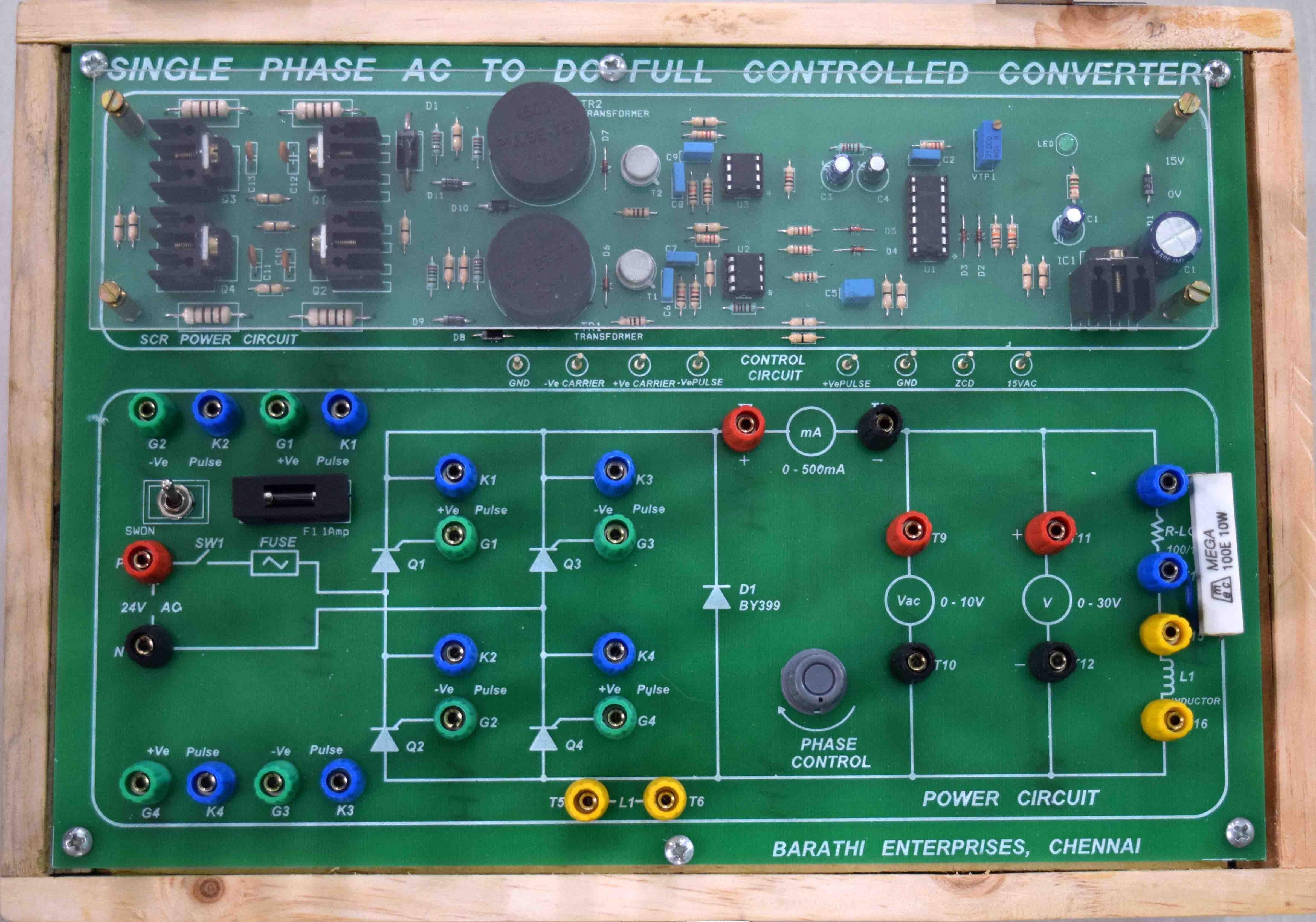 Barathi Enterprises Threephase Halfwave Controlled Rectifier Circuit With R Load Objective Single Phase Full Bridge Power