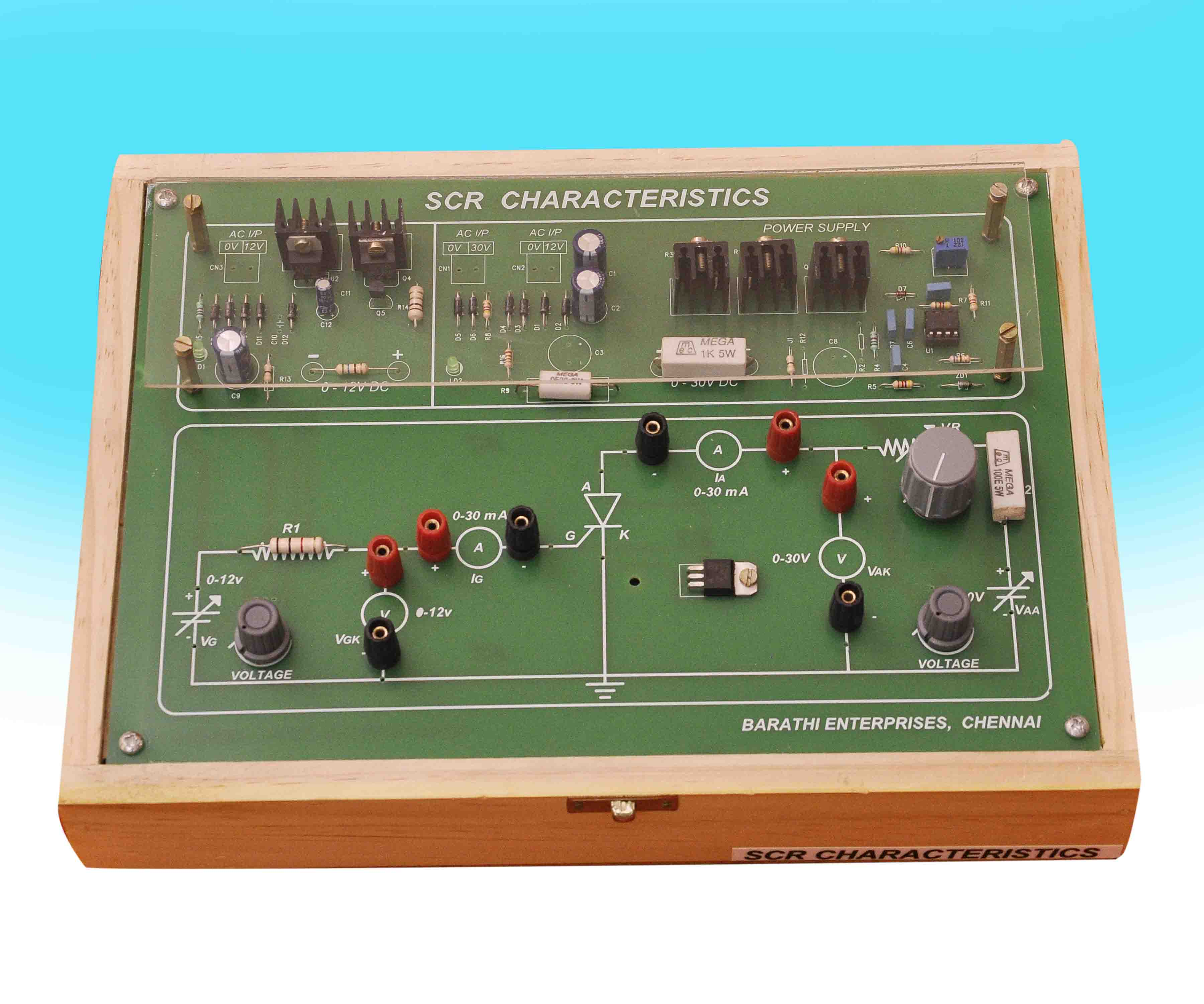 Barathi Enterprises Circuit Diagram Of Synchronized Mains Voltage Power Control Objective Built In 0 12v Supply